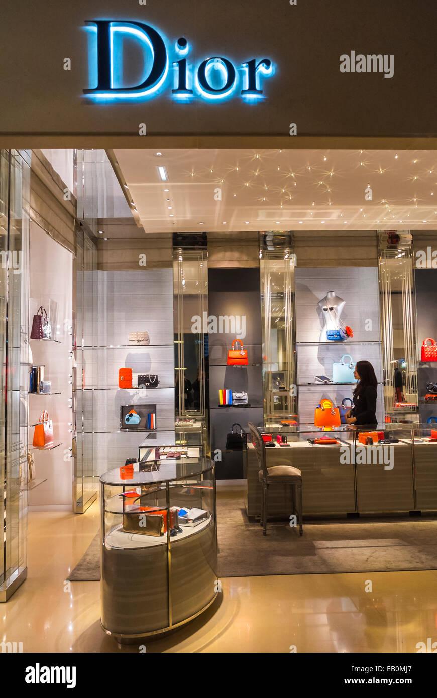 Parigi, Francia, Shopping all'interno del dipartimento francese Store, Galeries Lafayettes, Lusso Marca, Dior Immagini Stock