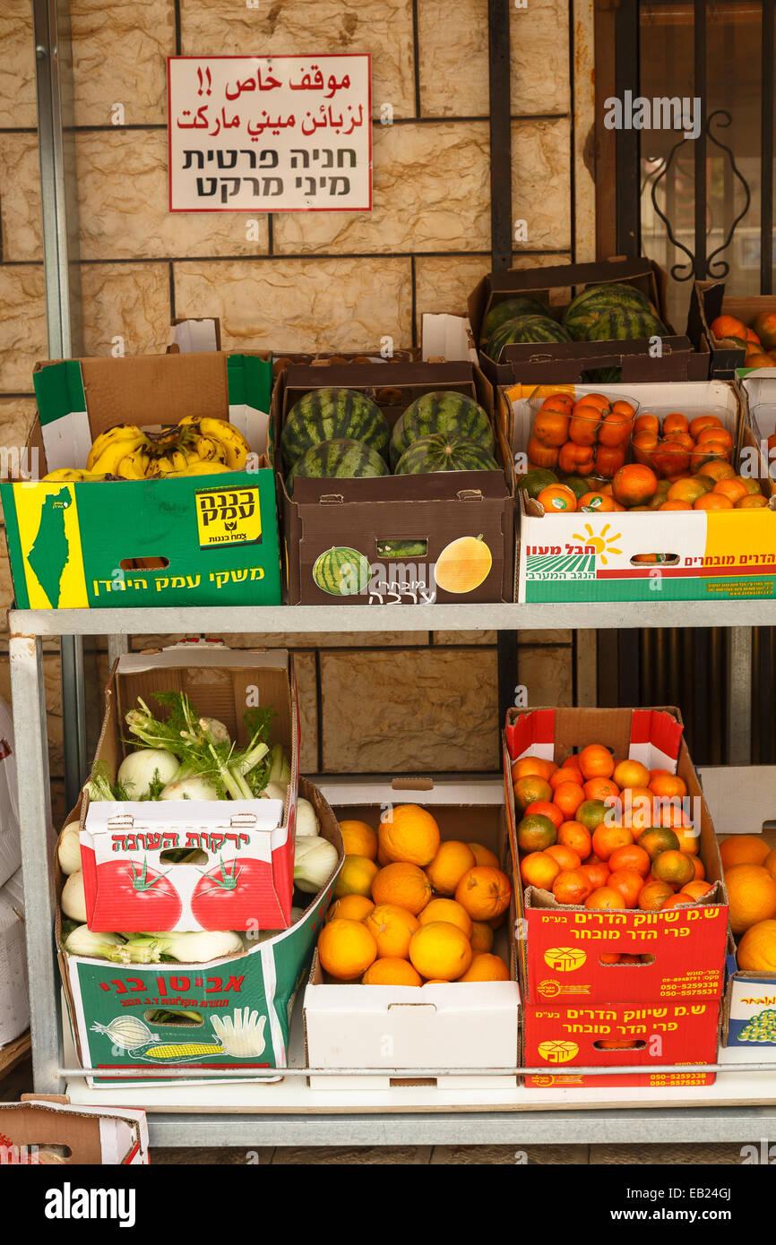 Frutta stand. Majdal Al Shams. Alture del Golan. Israele. La Siria. Asia Immagini Stock