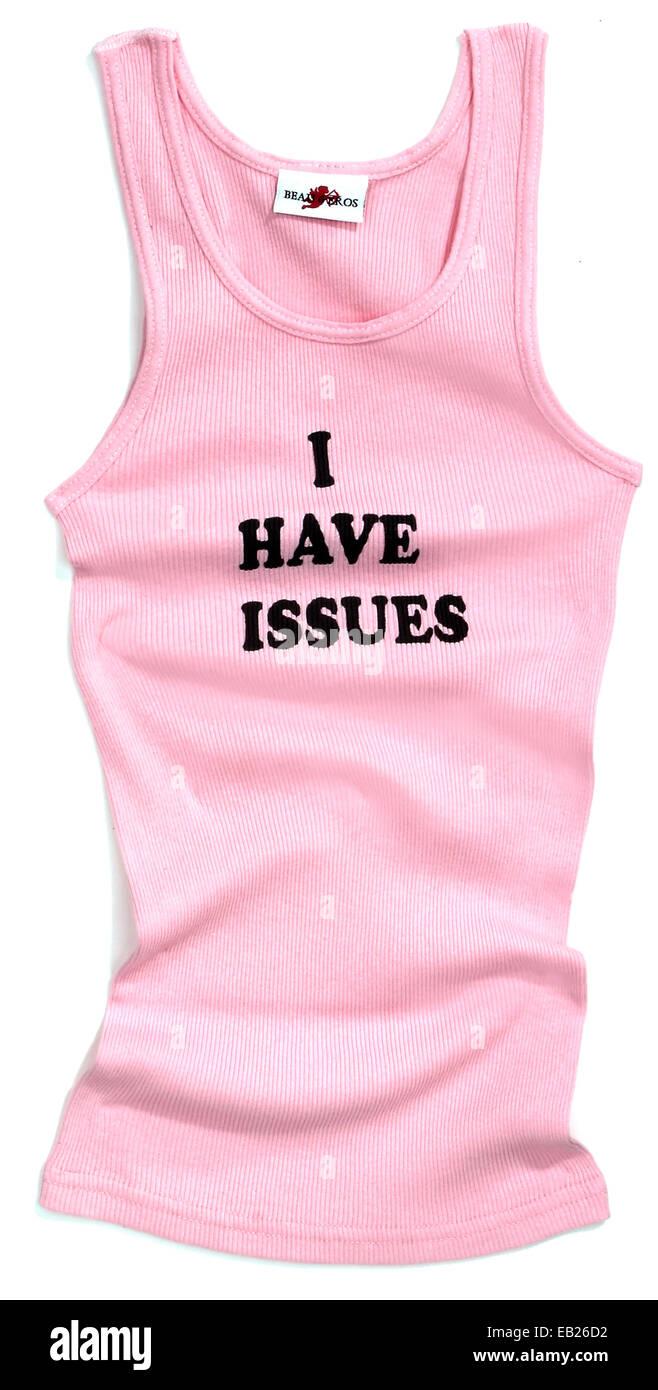 Ho problemi di serbatoio rosa top Immagini Stock