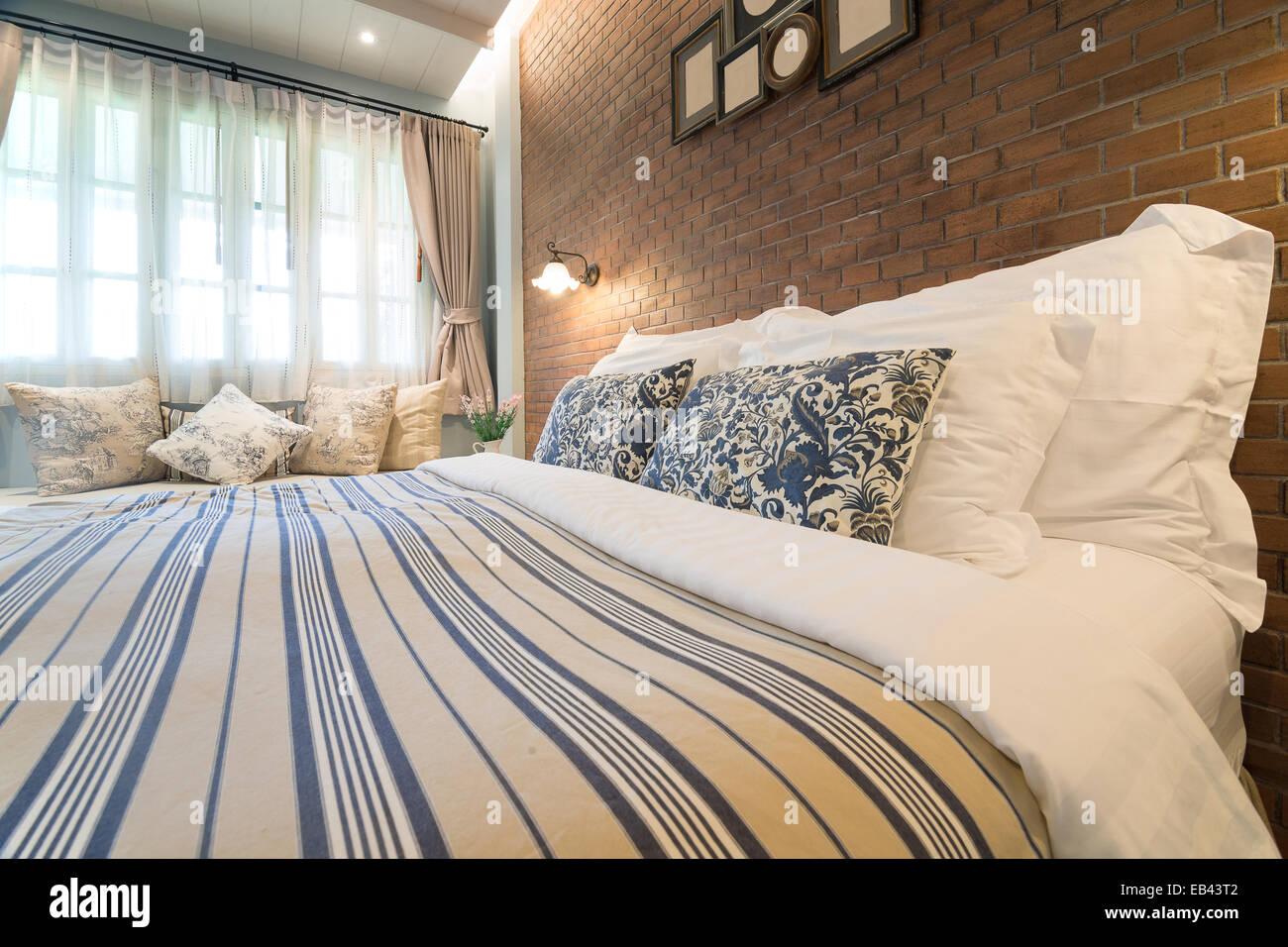 Stile country inglese decorazione camera da letto Foto & Immagine ...