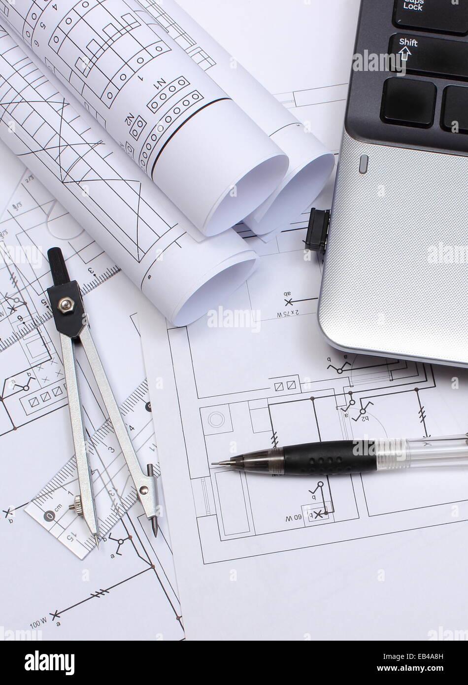 Schemi Elettrici Per Casa : Rotoli di schemi elettrici disegni di costruzione della casa