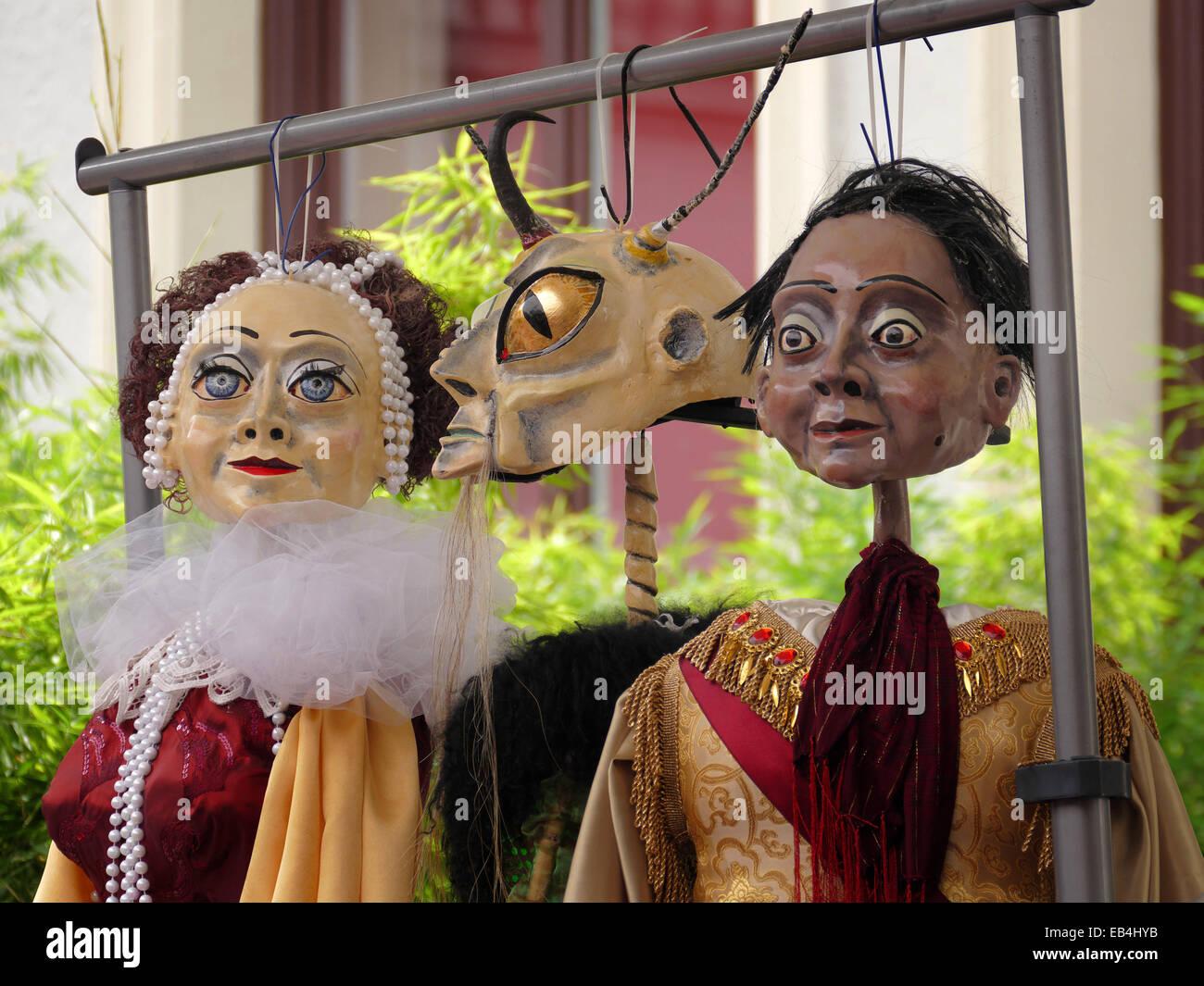 Una notte di mezza estate di sogno, figure e ombre spettacolo teatrale a Monaco di Baviera casa dell'artista Immagini Stock