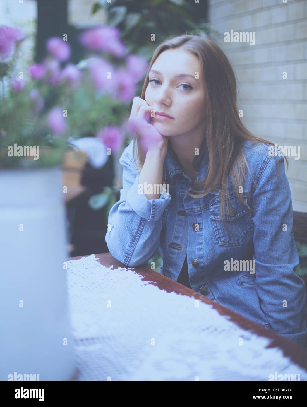 Giovane Europeo Orientale donna Immagini Stock