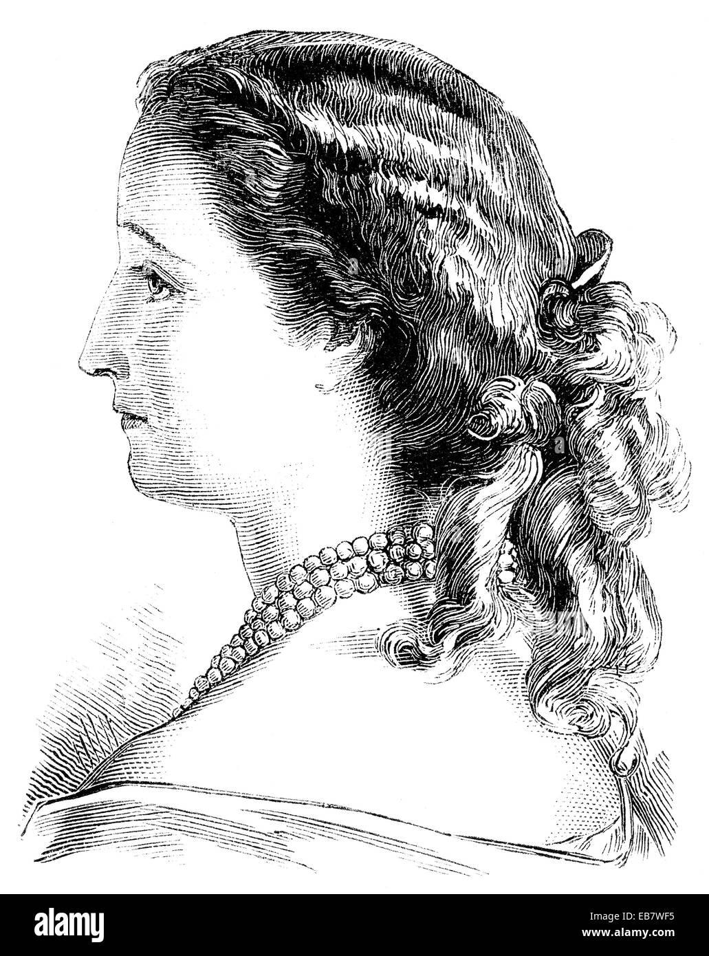 Eugénie de Montijo, XVI Contessa di Teba e xv Marquise di Ardales, 1826 - 1920, moglie di Napoleone III Immagini Stock