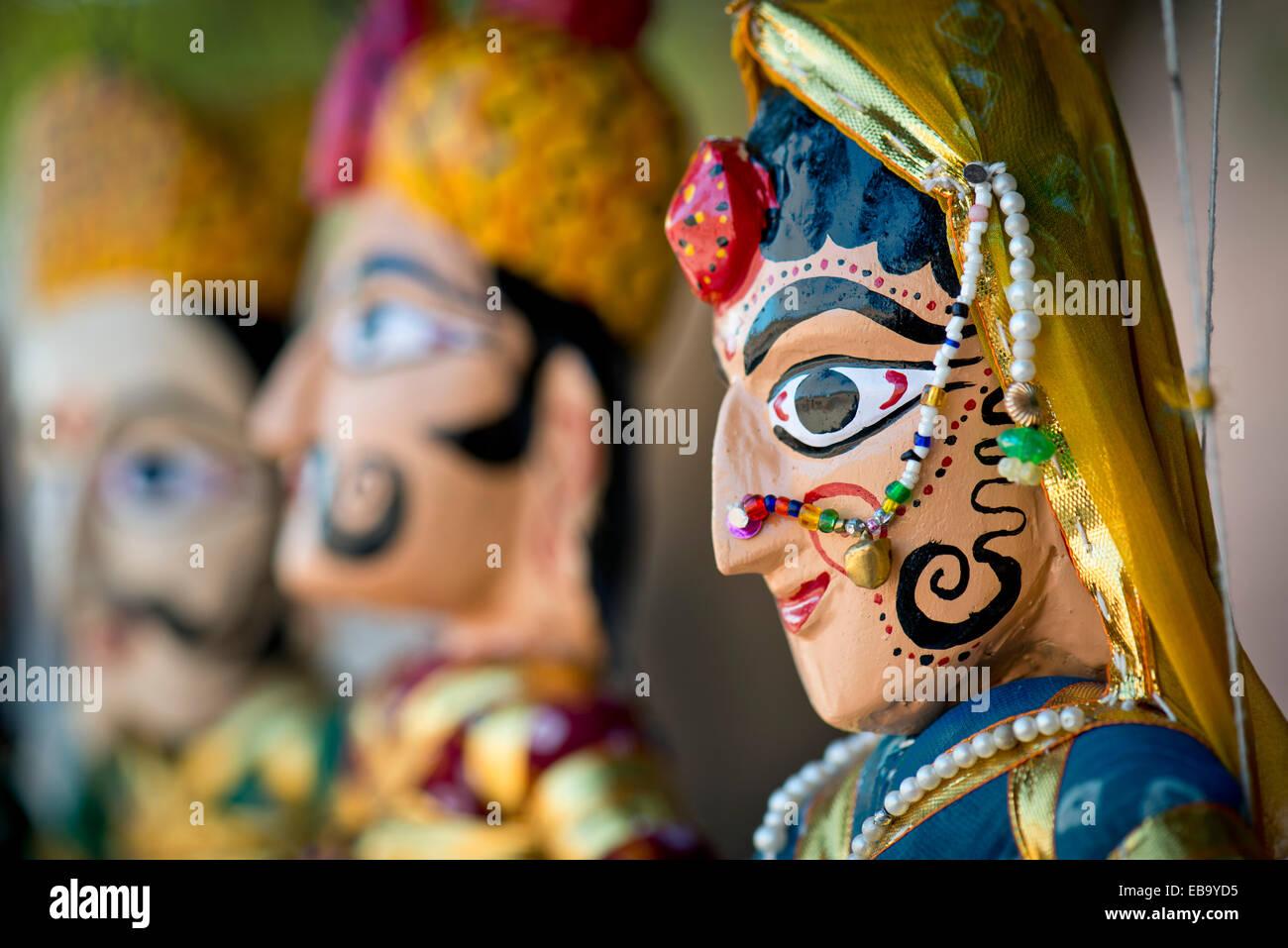 Marionette, artigianato tradizionale, Jodhpur, Rajasthan, India Immagini Stock