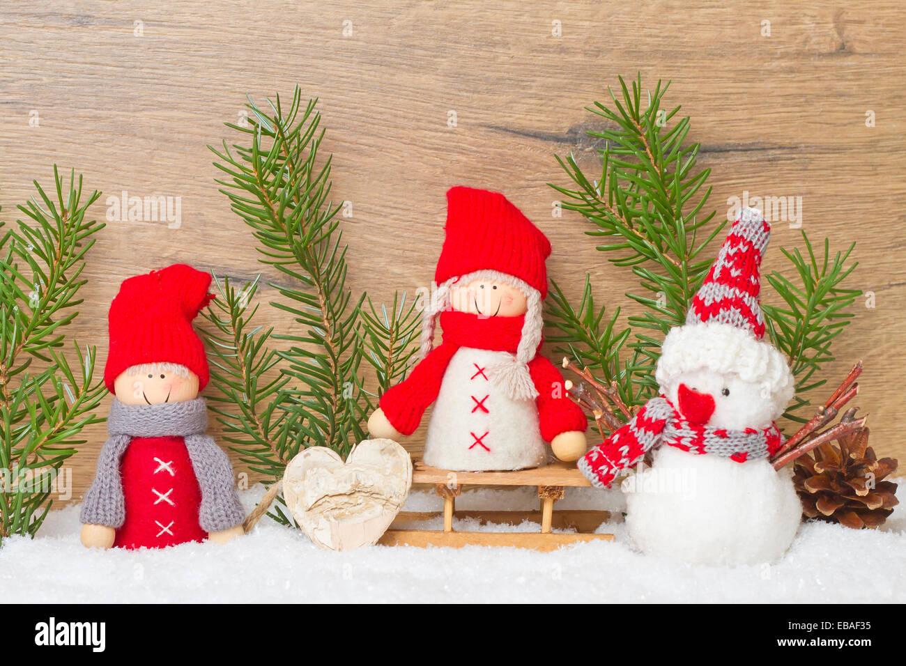Immagini Carine Natale.Felice Natale Carta Con Figure Carine Foto Immagine Stock