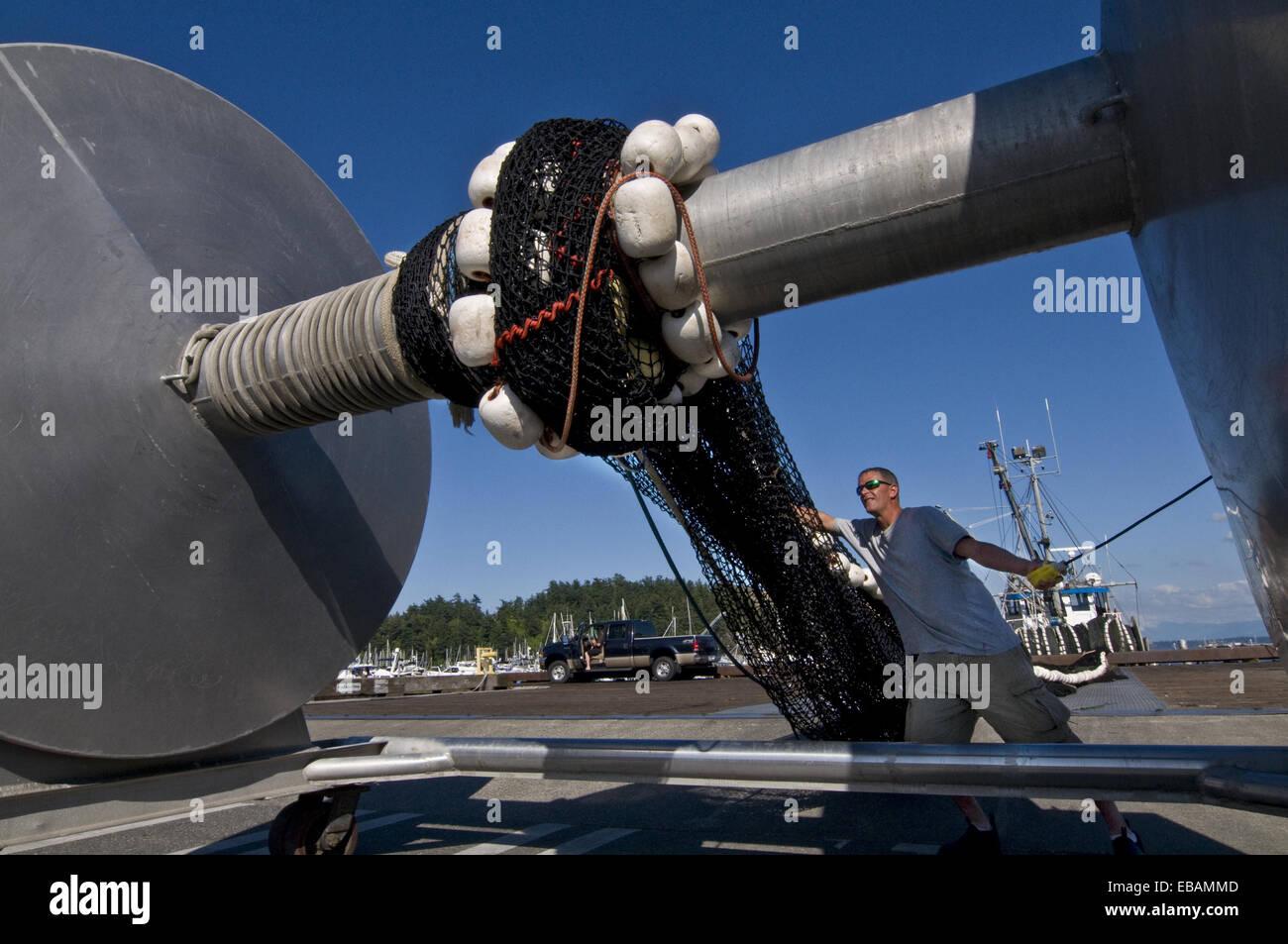 Dopo America American Anacortes colletto blu barca business costa di cattura costiere immagine a colori variopinti Immagini Stock