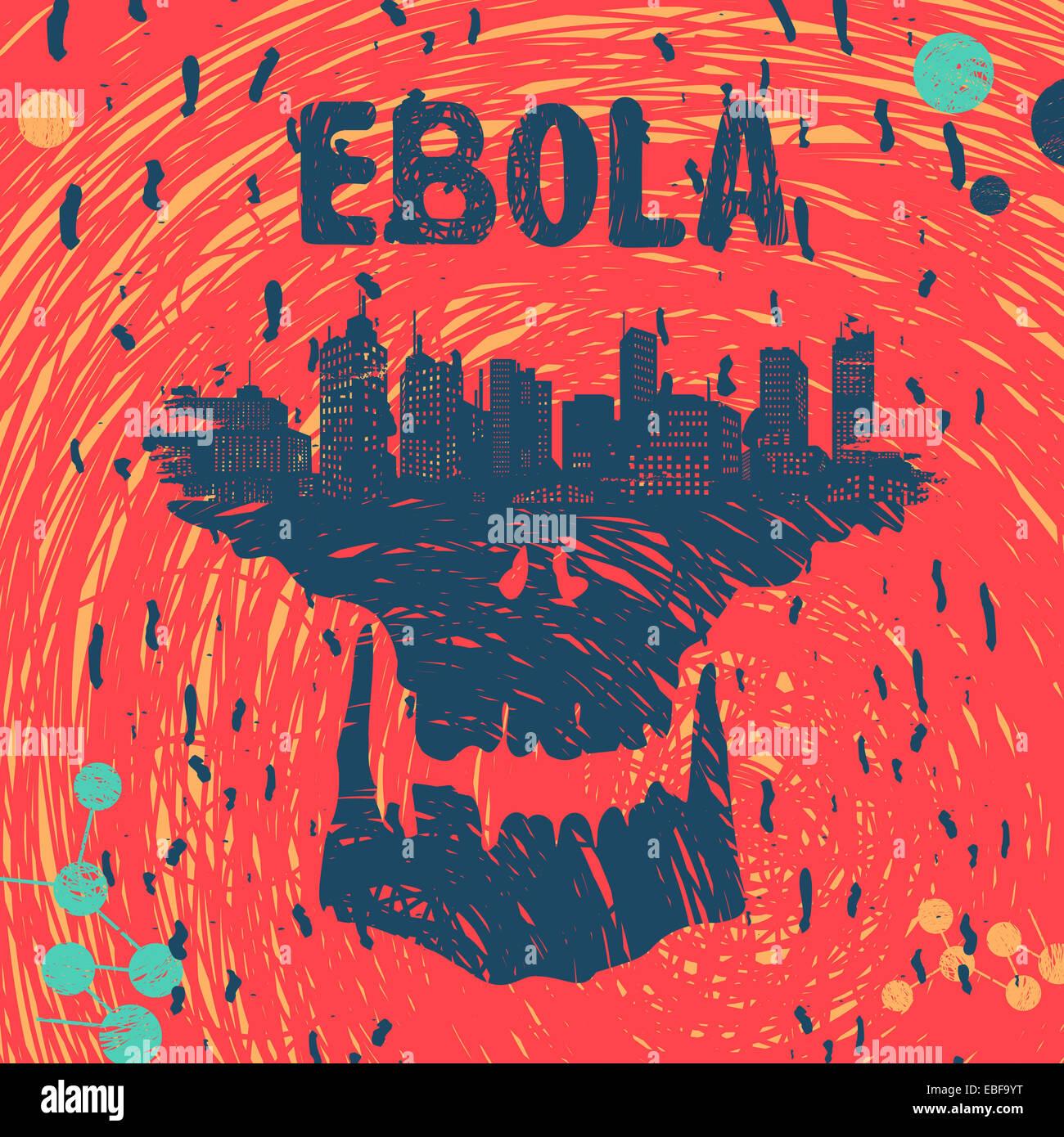 Virus Ebola eps simbolo 8 formato di file Immagini Stock