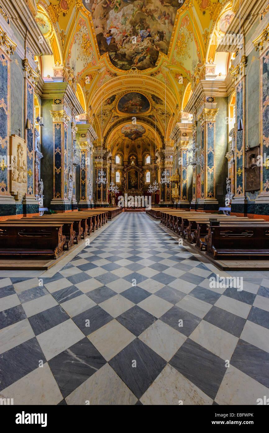 Interno della Cappella aulica, Palazzo Vescovile, Bressanone, Trentino-Alto Adige, Italia Immagini Stock