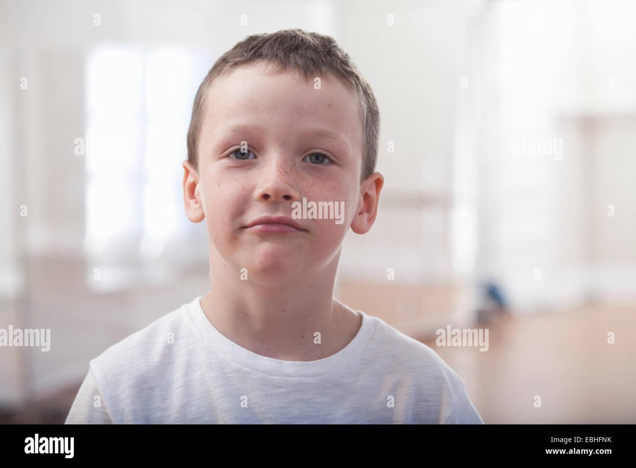 Ritratto di ragazzo nella scuola di danza Immagini Stock