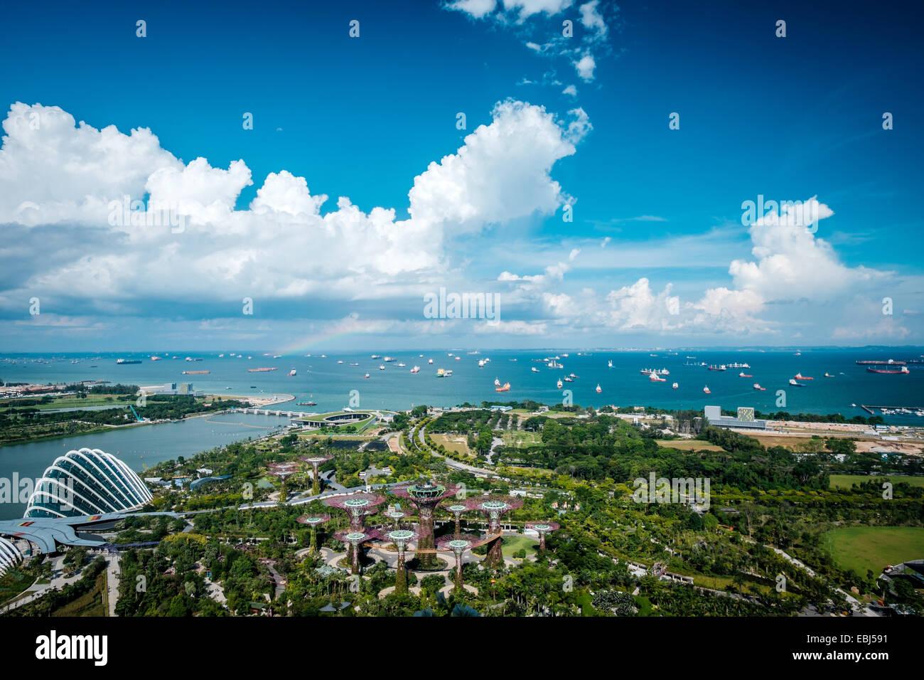 Giardino della baia della città di Singapore Immagini Stock