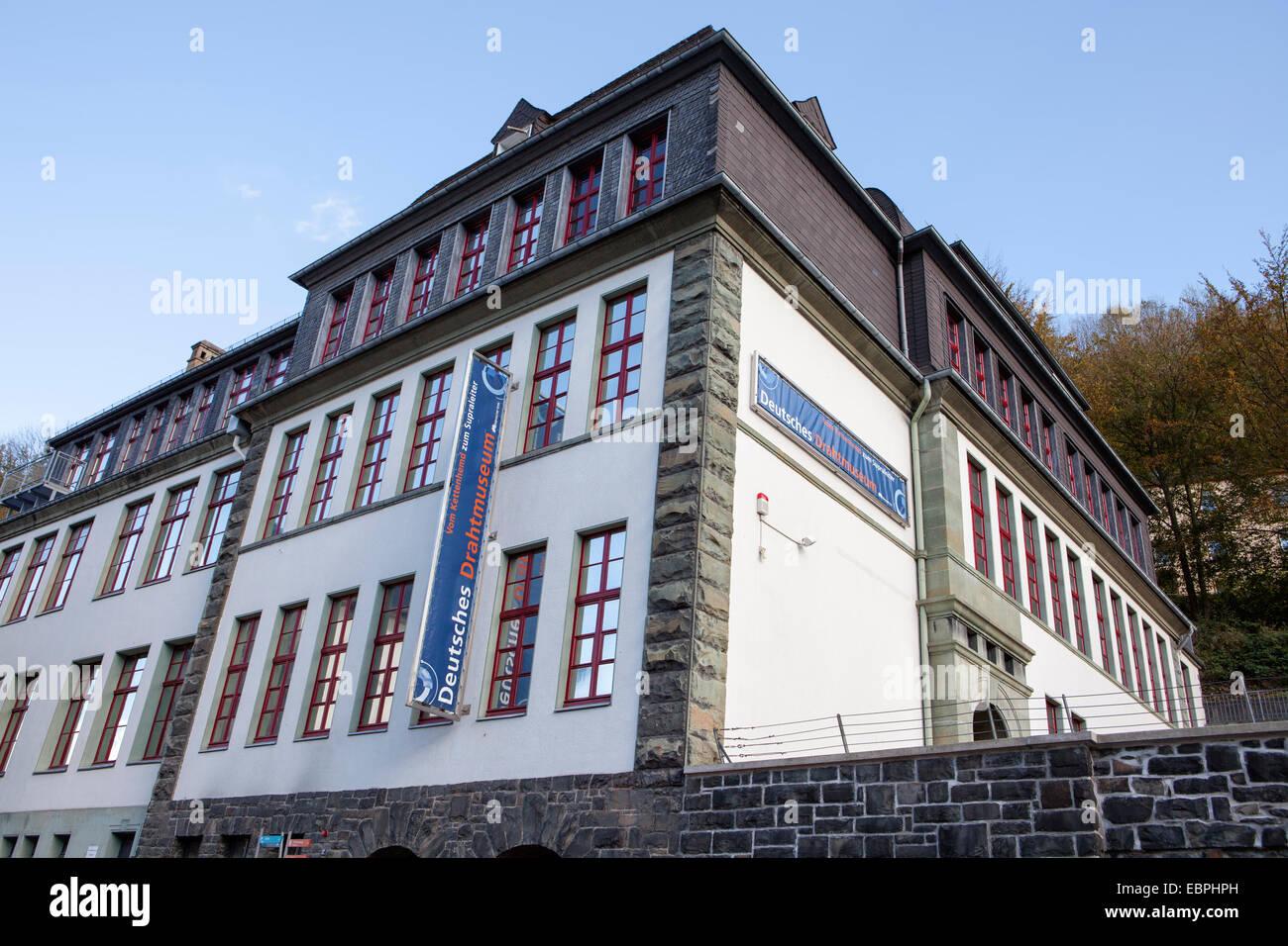 Il filo tedesco Museo, Altena, Lennetal, Maerkischer Kreis, Sauerland, Renania settentrionale-Vestfalia, Germania, Immagini Stock