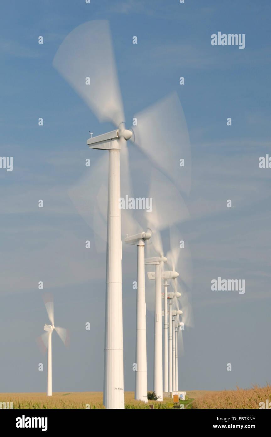 Impianto di energia eolica, Germania, Mecklenburg Vorpommern Immagini Stock