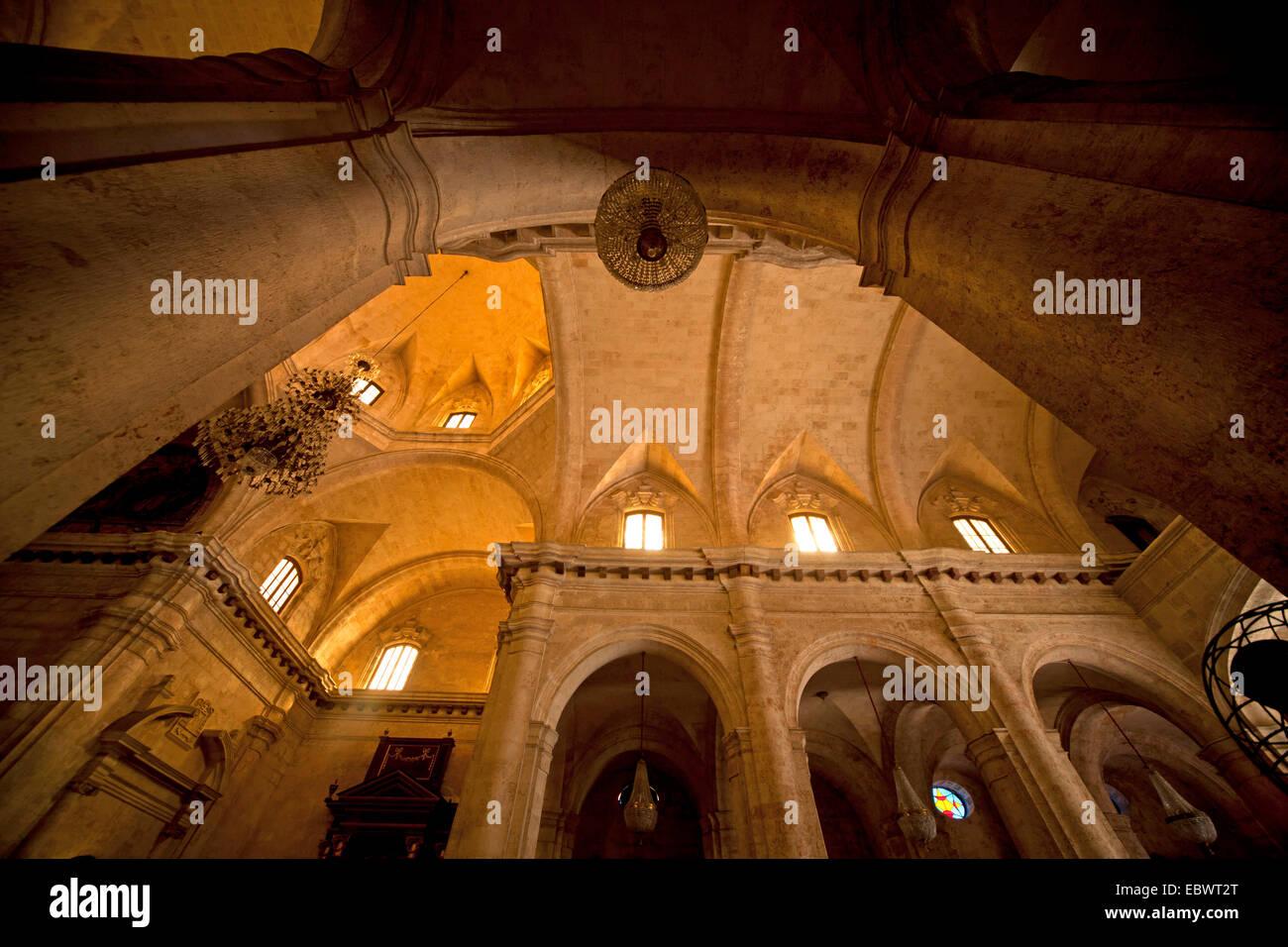 Gli interni della cattedrale di San Cristobal de L Avana Cuba Immagini Stock