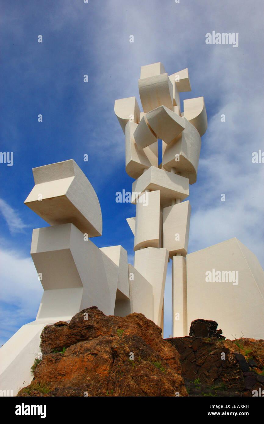Monumento al Campesino (farmer's Memorial), Isole Canarie Lanzarote, San Bartolome Immagini Stock