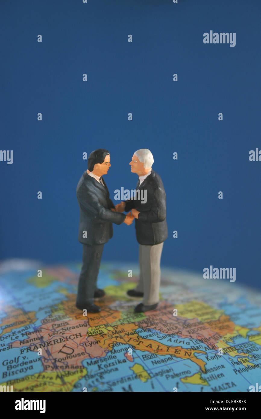 Il simbolo della globalizzazione Immagini Stock