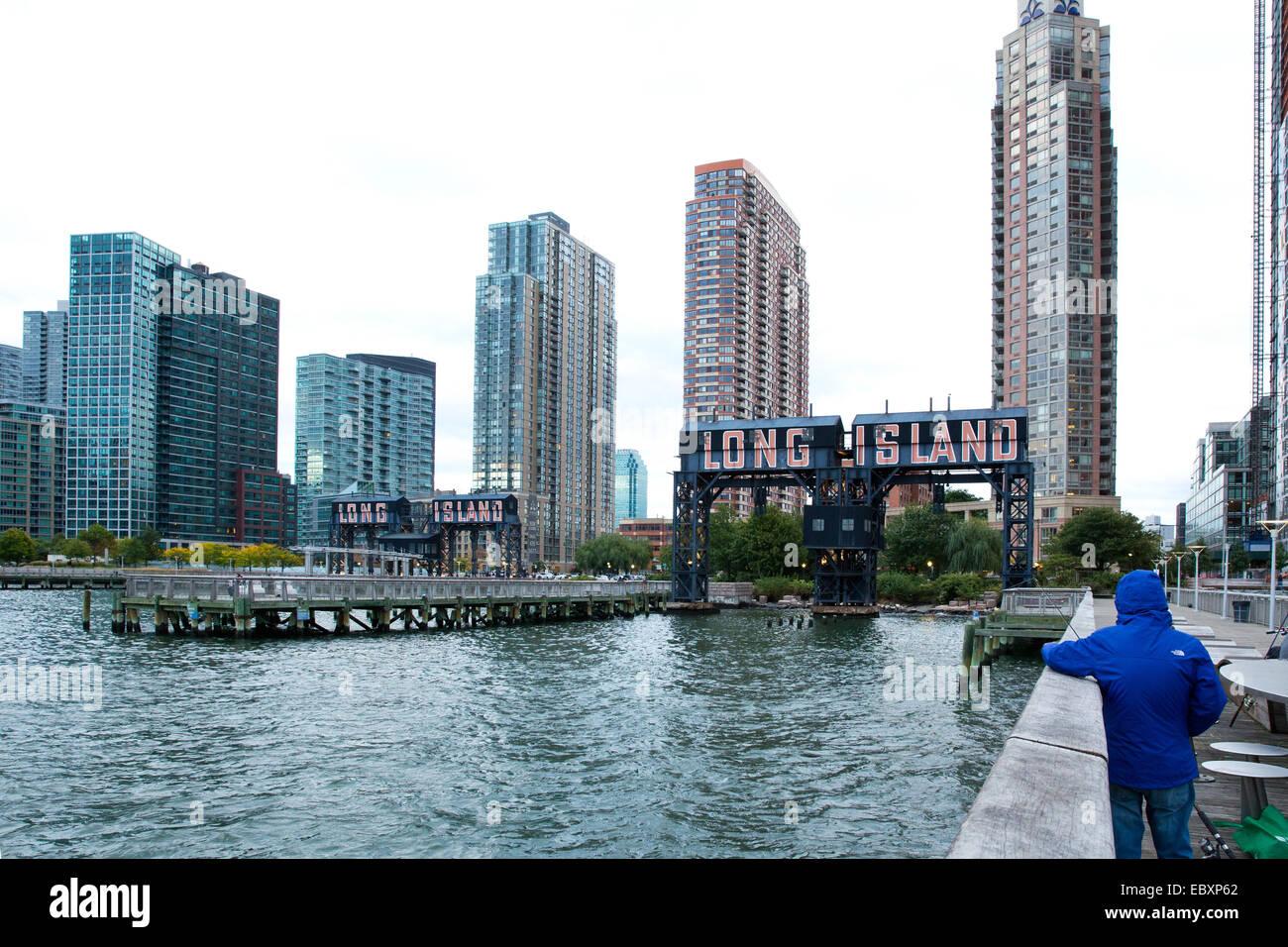 Il cacciatore punto a sud di sviluppo, Long Island City, Queens, NY, STATI UNITI D'AMERICA, la città di Immagini Stock