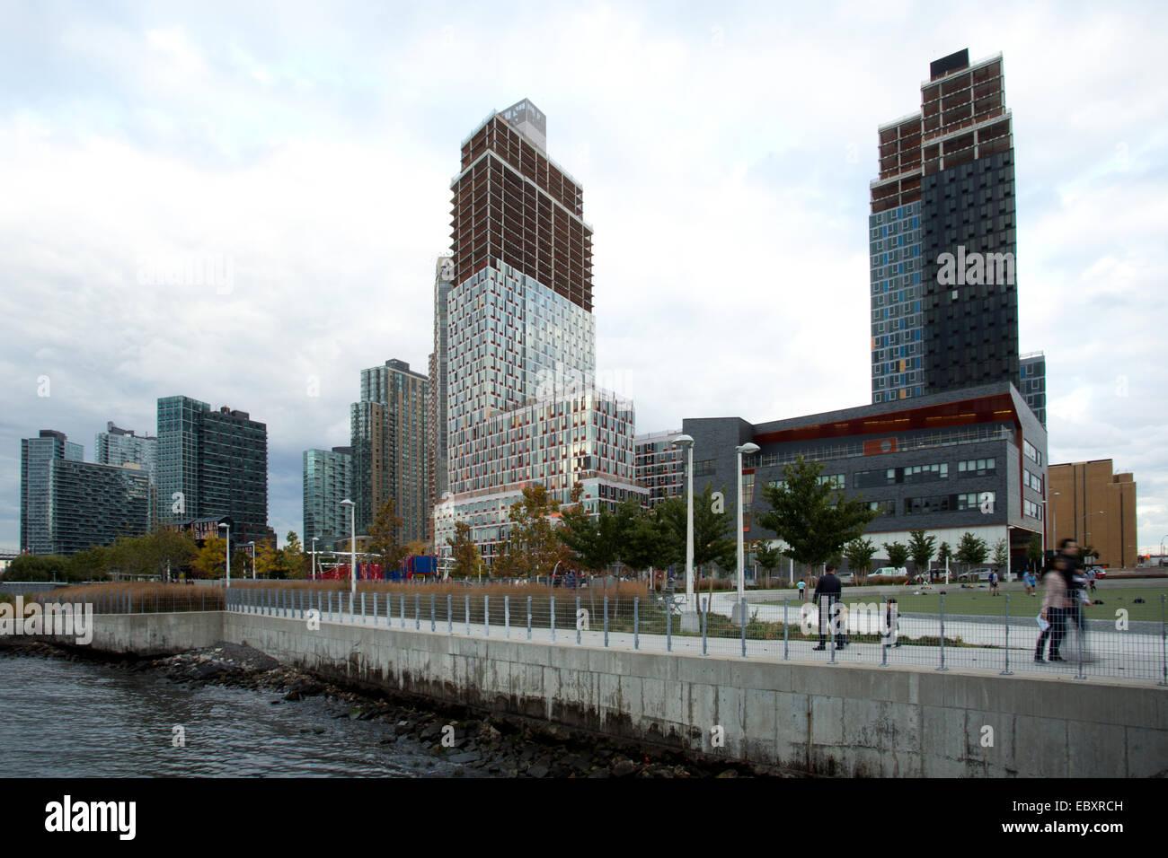 Il cacciatore punto a sud di Long Island City, Queens, NY, STATI UNITI D'AMERICA, la città di New York, Immagini Stock