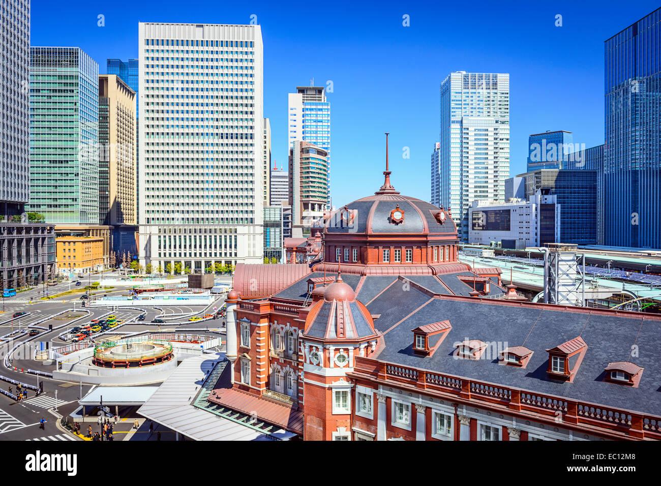 Tokyo, Giappone cityscape alla Stazione di Tokyo. Immagini Stock