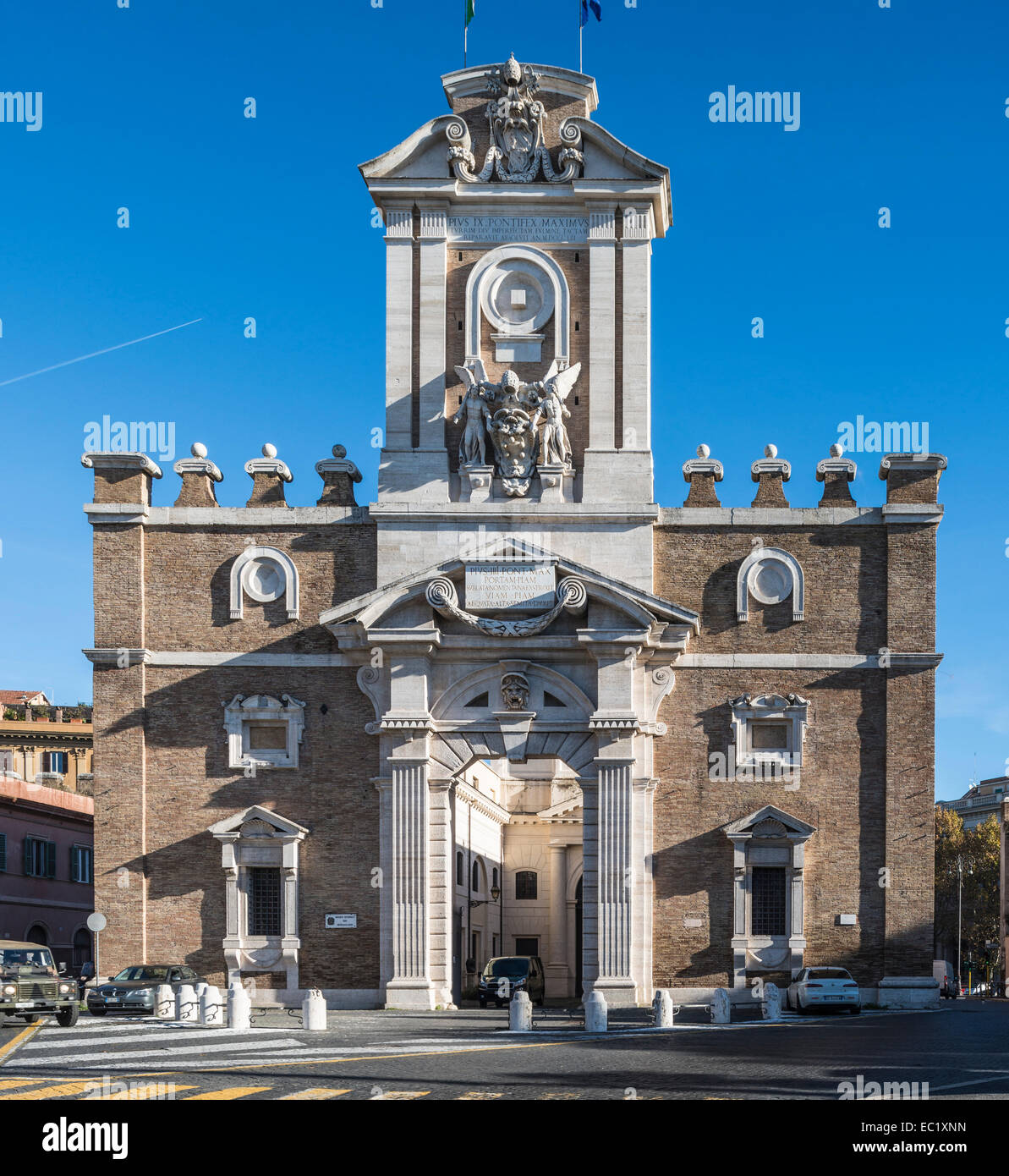 Porta Pia, doppia porta nelle mura Aureliane, dal 1561 al 1565, Michelangelo, museo storico, Roma, lazio, Italy Immagini Stock