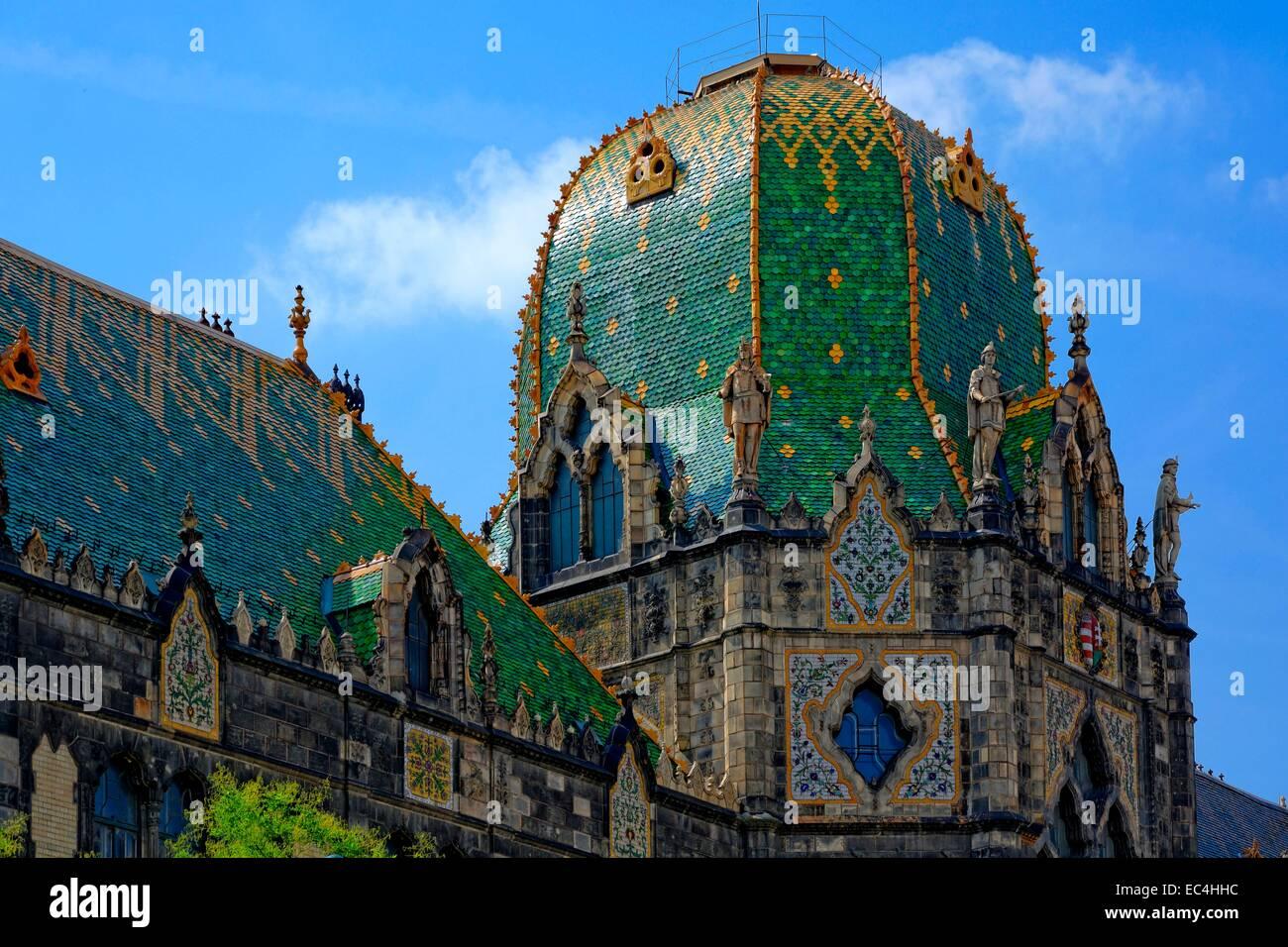 Architettura, cupola del Museo di Arti Decorative di Budapest Immagini Stock
