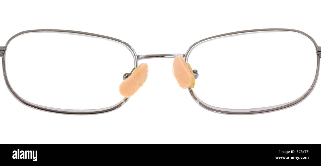 Due soft nose pads attaccato ad un occhiale. Immagini Stock