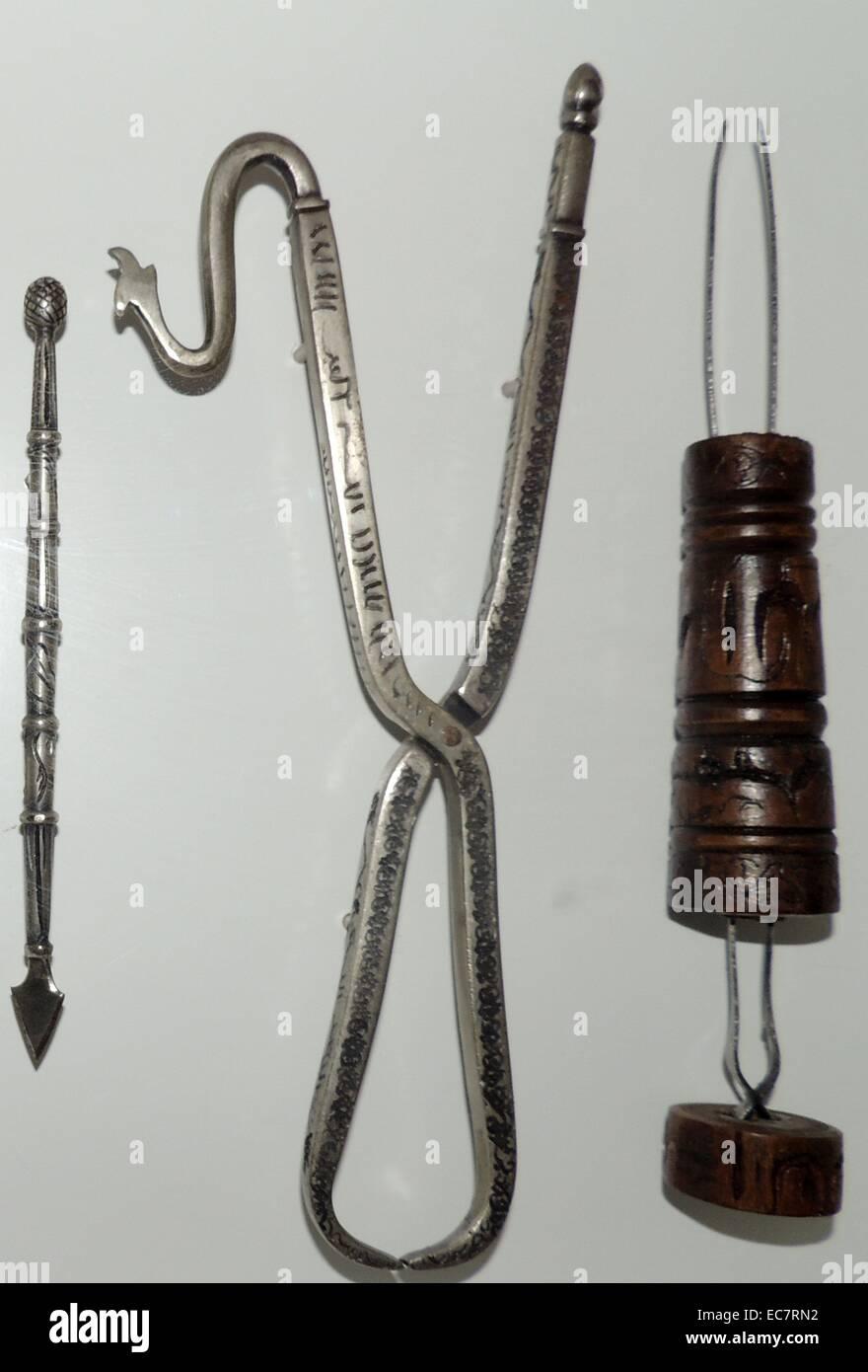 Storico degli strumenti chirurgici Immagini Stock