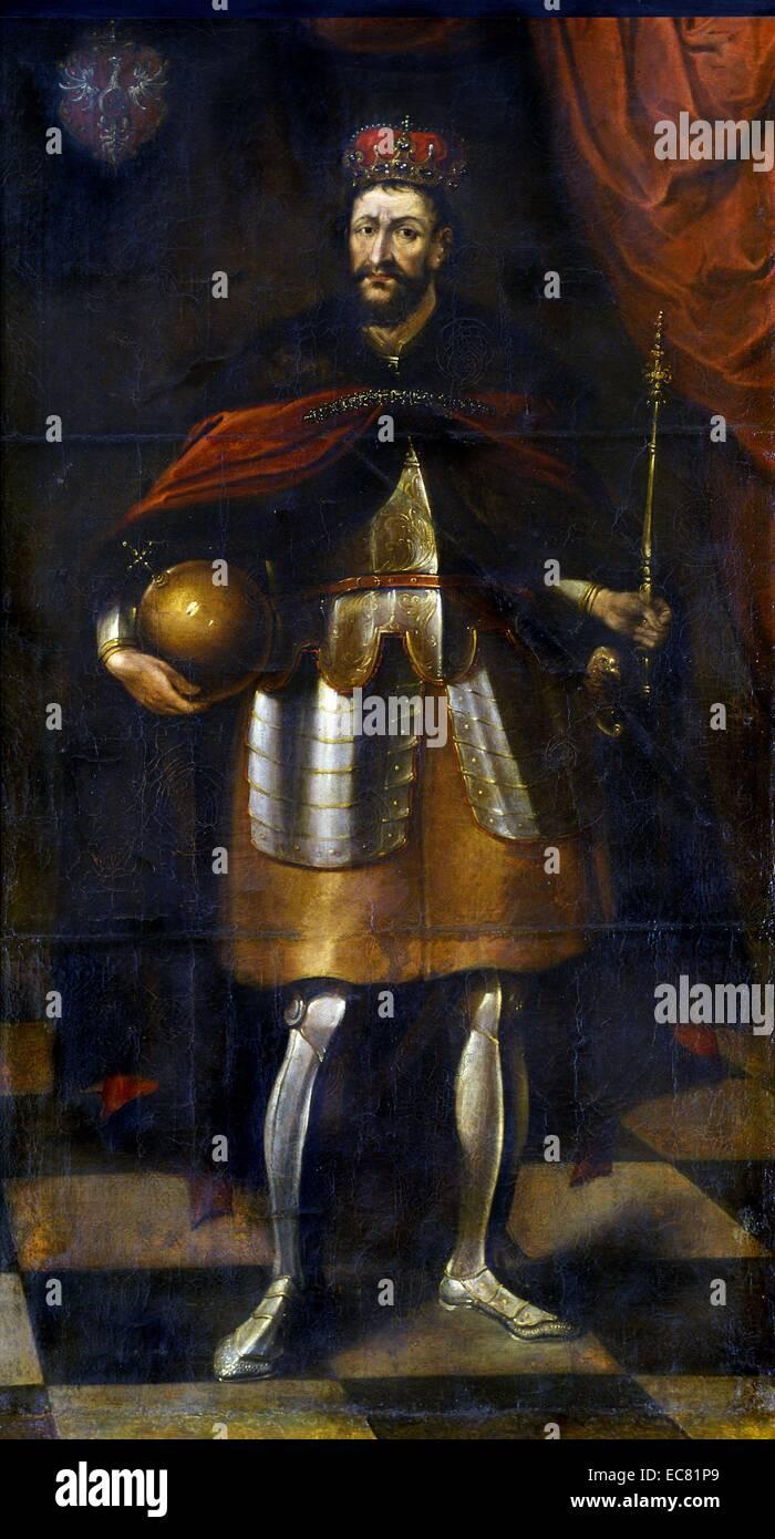 Ritratto di lituano di Granduca Jogaila (1352-1434) fondatore della dinastia Jagellonica. Datato 1677. Immagini Stock