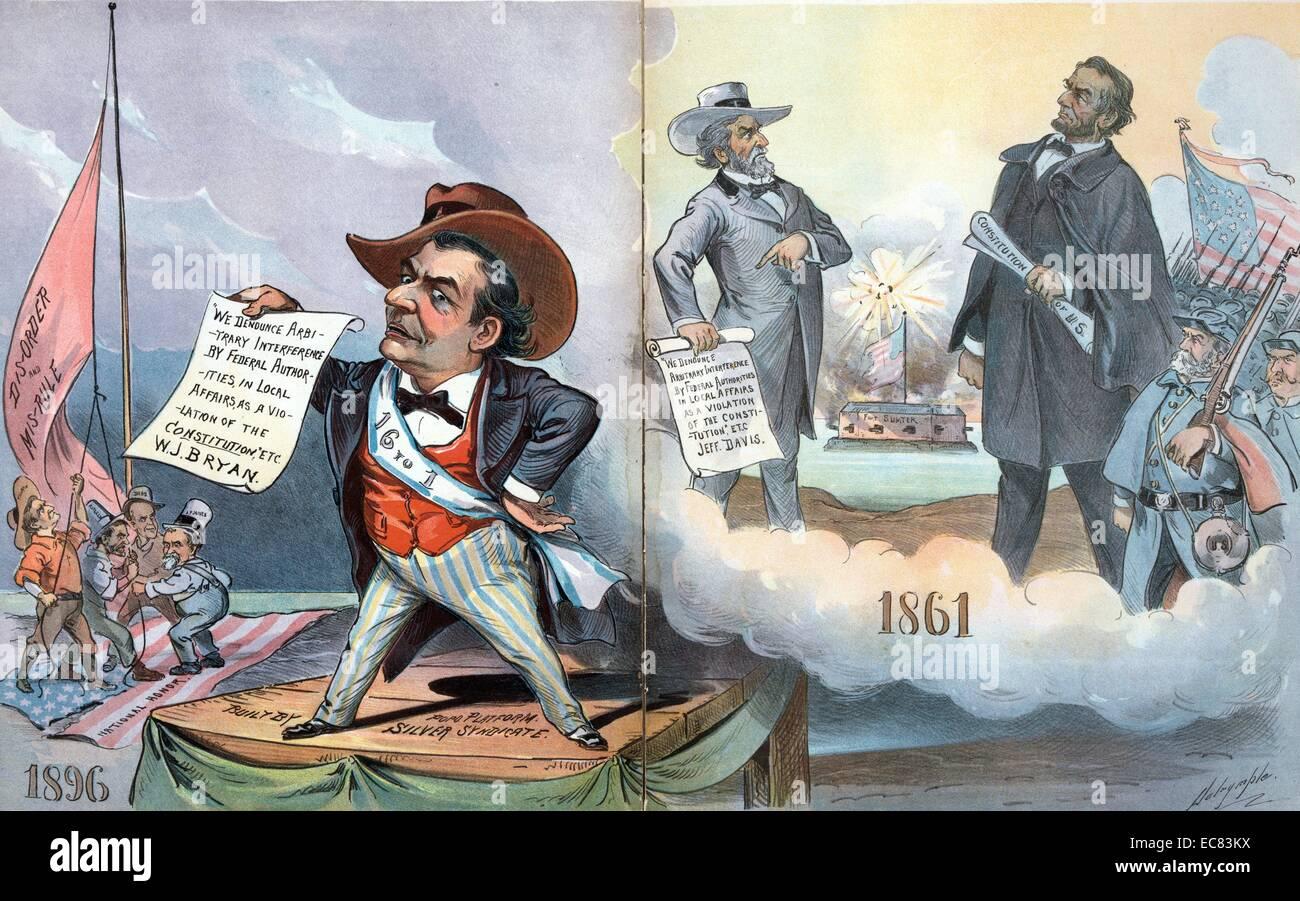 La storia si ripete da Louis a Dalrymple, 1896. Immagini Stock