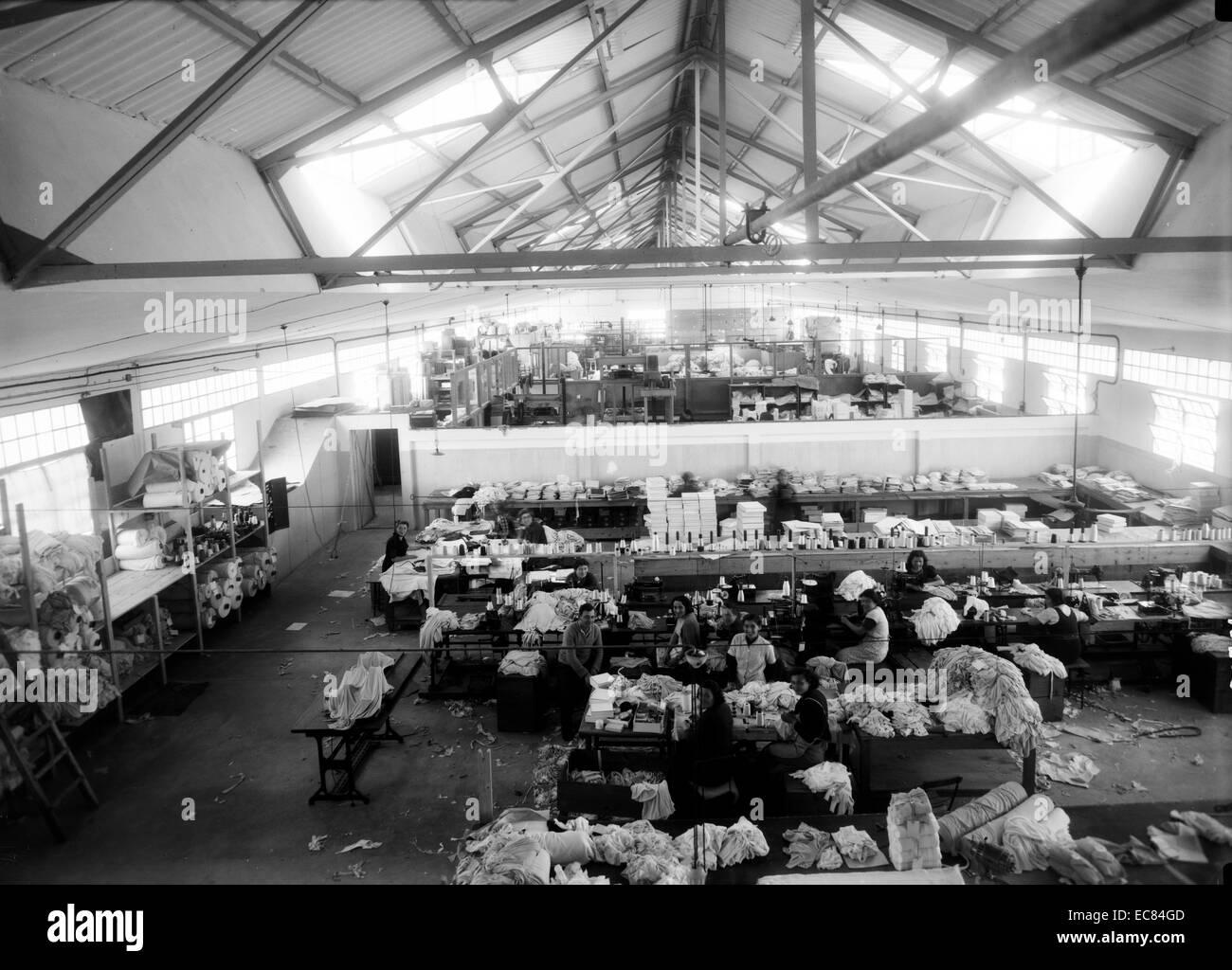 Fotografia del tessile Lodzia Co in Holon insediamento in Israele. Immagini Stock