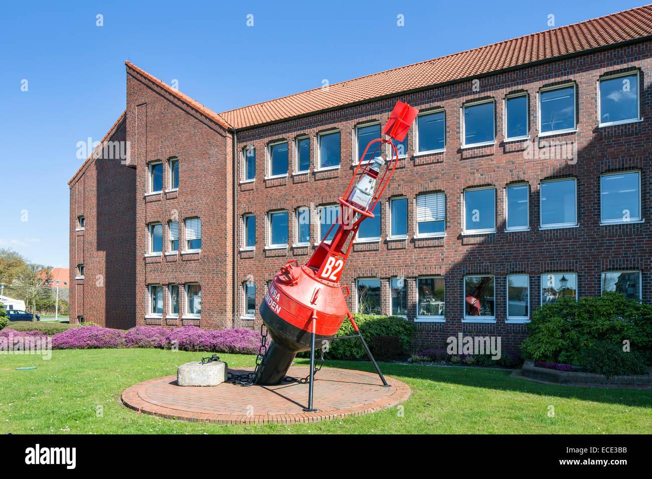 Navigazione fluviale, Ufficio di Emden, Frisia orientale, Bassa Sassonia, Germania Immagini Stock