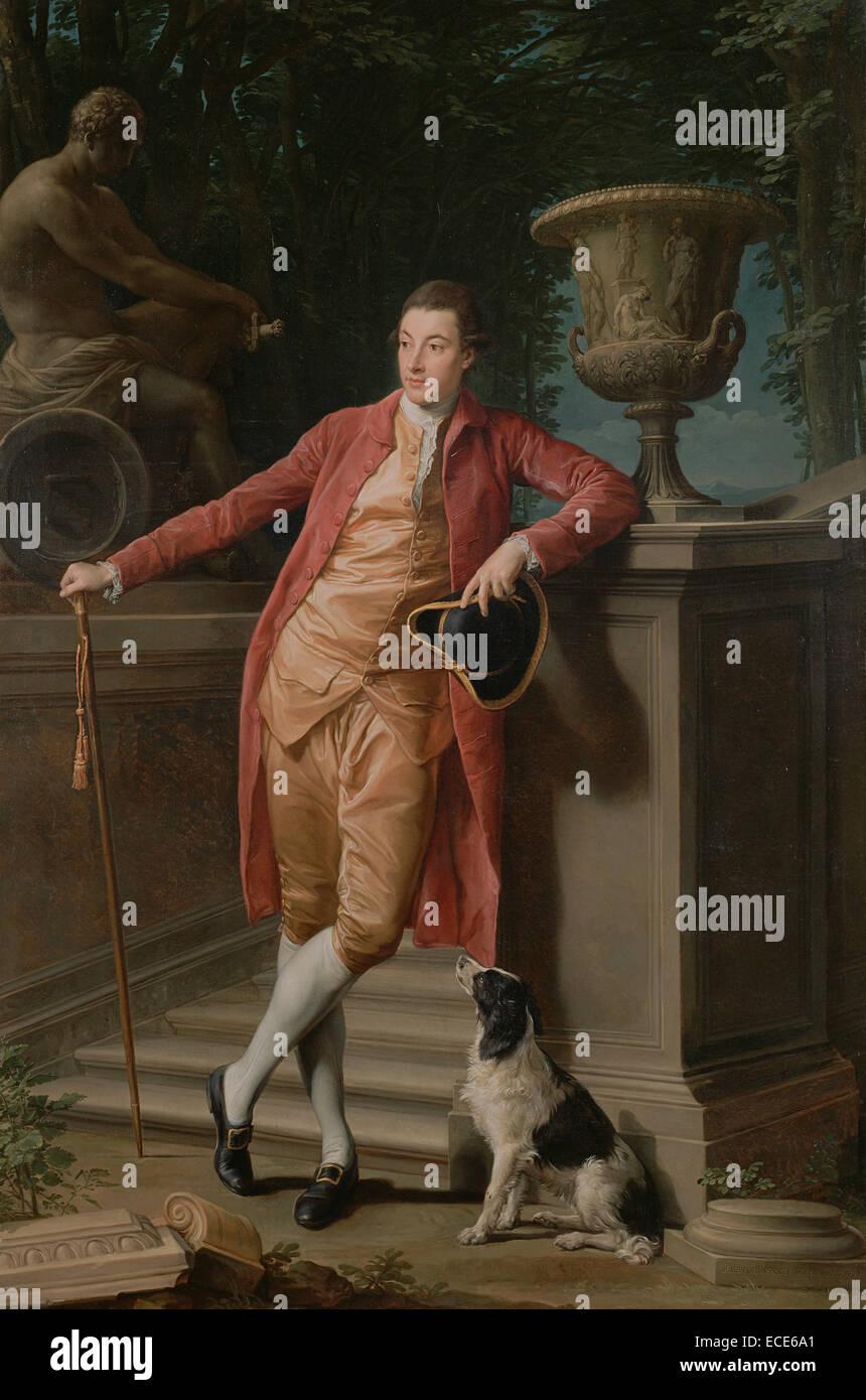 Ritratto di John Talbot, più tardi primo Earl Talbot; Pompeo Batoni, italiano (Lucchese), 1708 - 1787; Italia, Immagini Stock