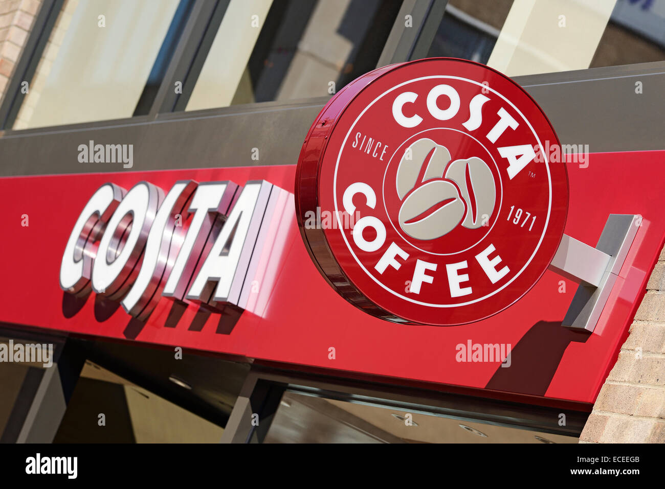 Costa Coffee, UK. Immagini Stock