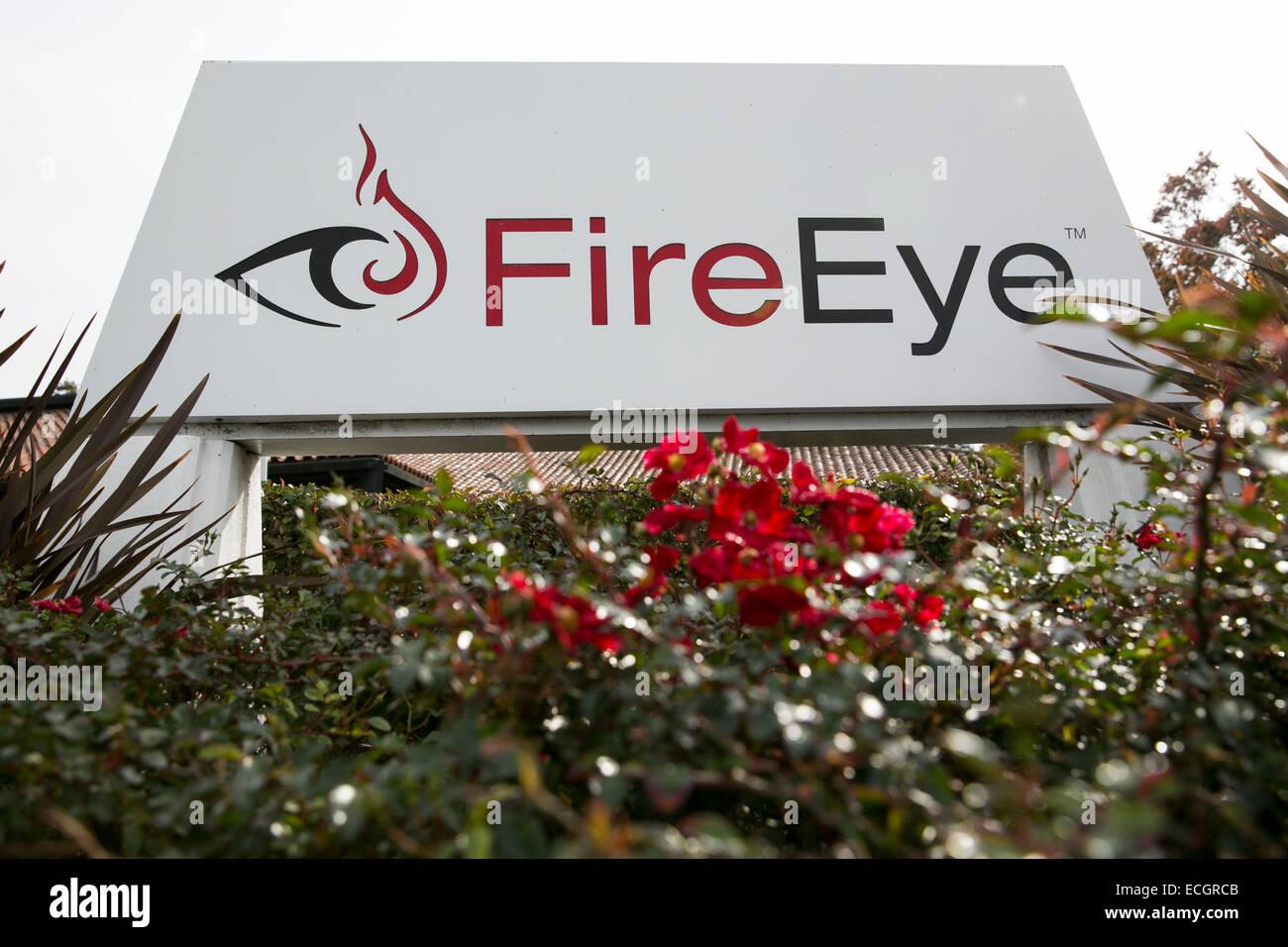 La sede centrale di computer security software maker FireEye. Foto Stock