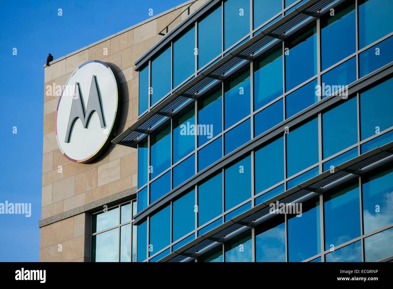 Un edificio di uffici occupati da Motorola Mobility. Immagini Stock