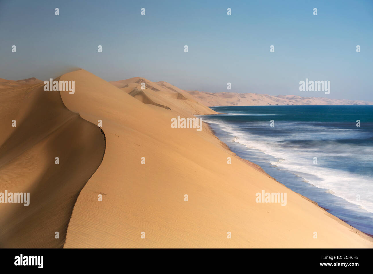 Dune di sabbia del deserto del Namib, Swakopmund, Namibia Immagini Stock