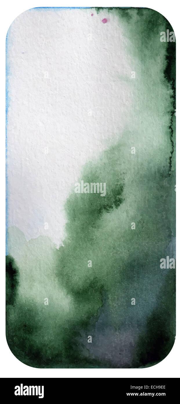Grigio-verde sfondo ad acquerello Immagini Stock
