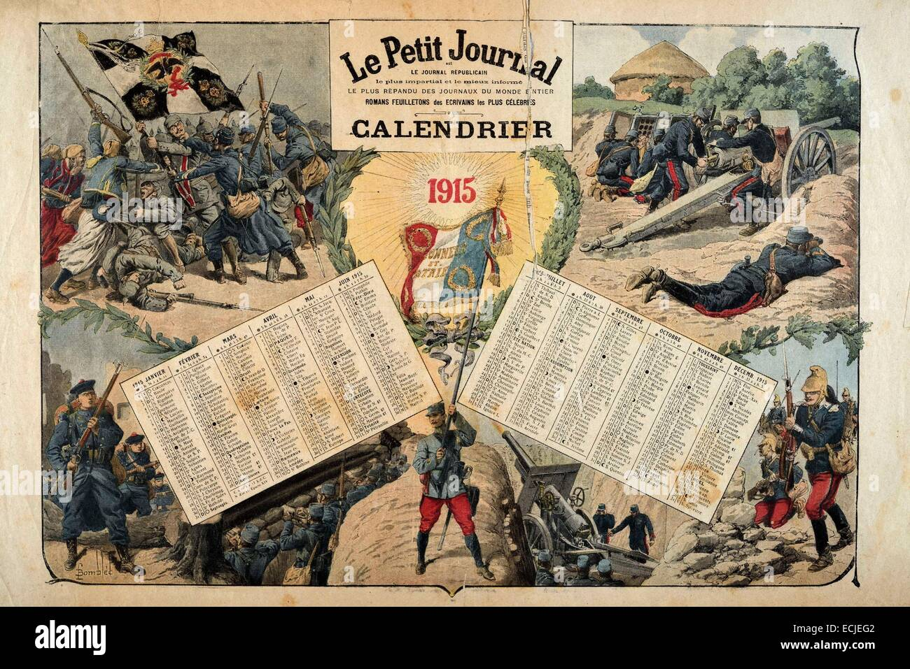 Calendario 1915.Le Petit Journal Iillustrated Supplemento Domenica 3