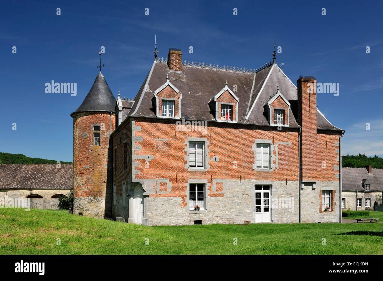 Francia, Nord, Eppe Sauvage, Castello Voyaux Immagini Stock