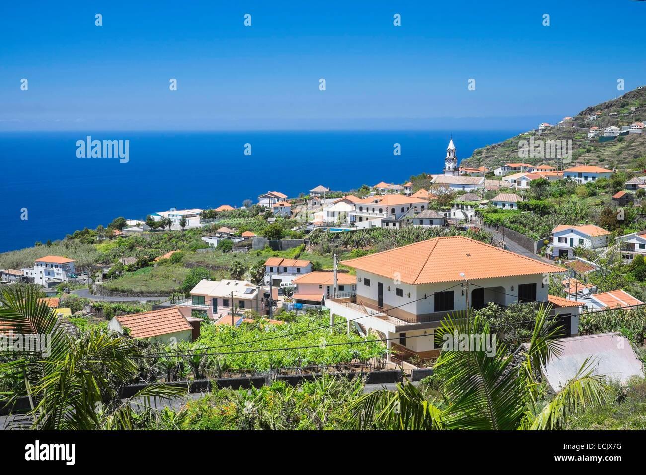 Il Portogallo, l'isola di Madeira, south coast, Arco da Calheta Immagini Stock