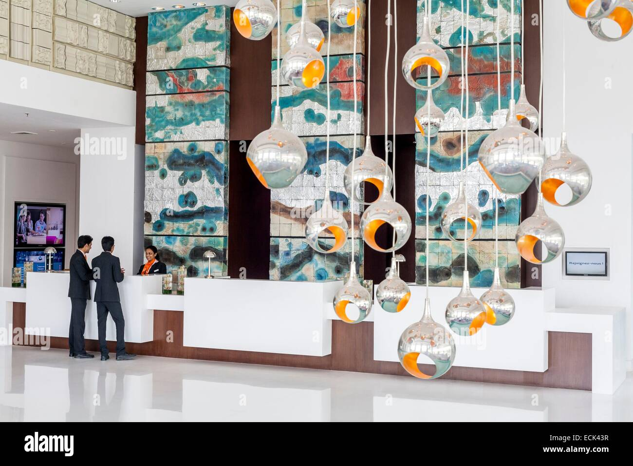 India, Nuova Delhi, Gurgaon, Pullman Central Park, lobby Immagini Stock
