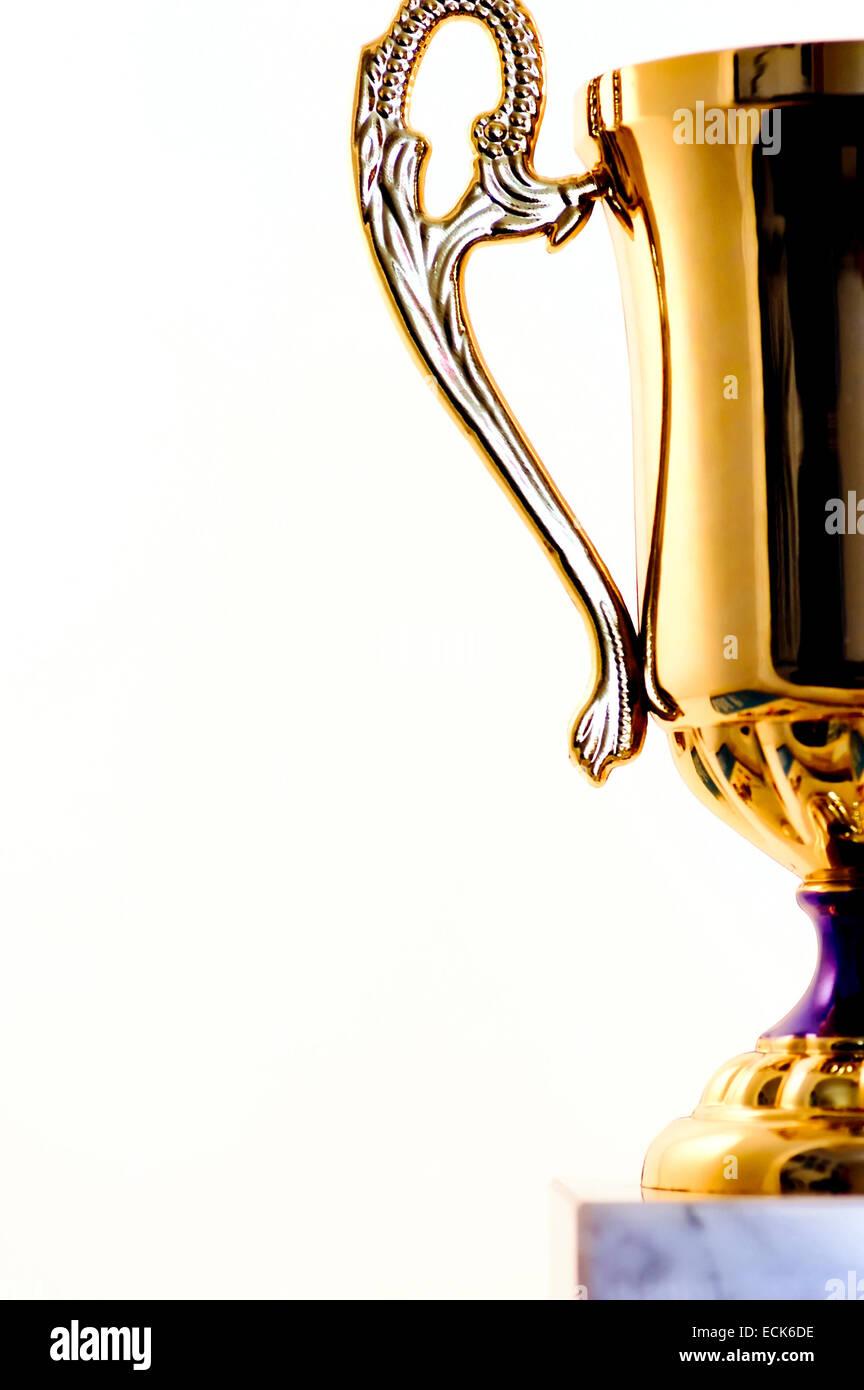 Gold Cup, concetto di successo Immagini Stock