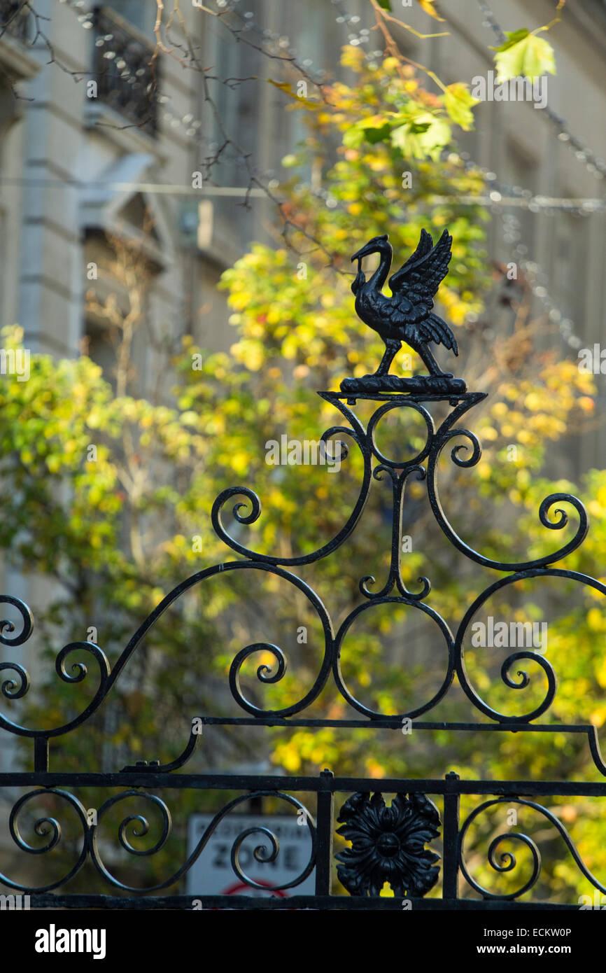 Girato a tenuta della parte superiore di una recinzione Immagini Stock