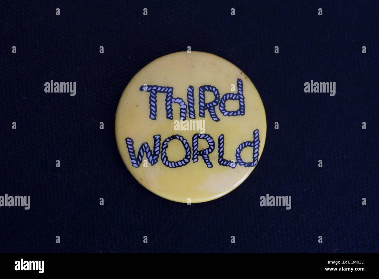Badge da bavero la promozione del terzo mondo, un giamaicano reggae band fondata negli anni settanta Immagini Stock
