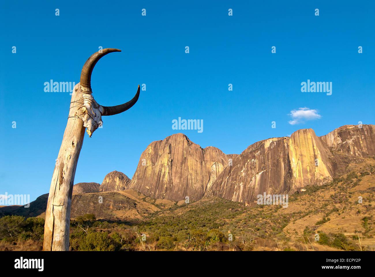Simbolismo culturale negli altopiani centrali del Madagascar. Immagini Stock