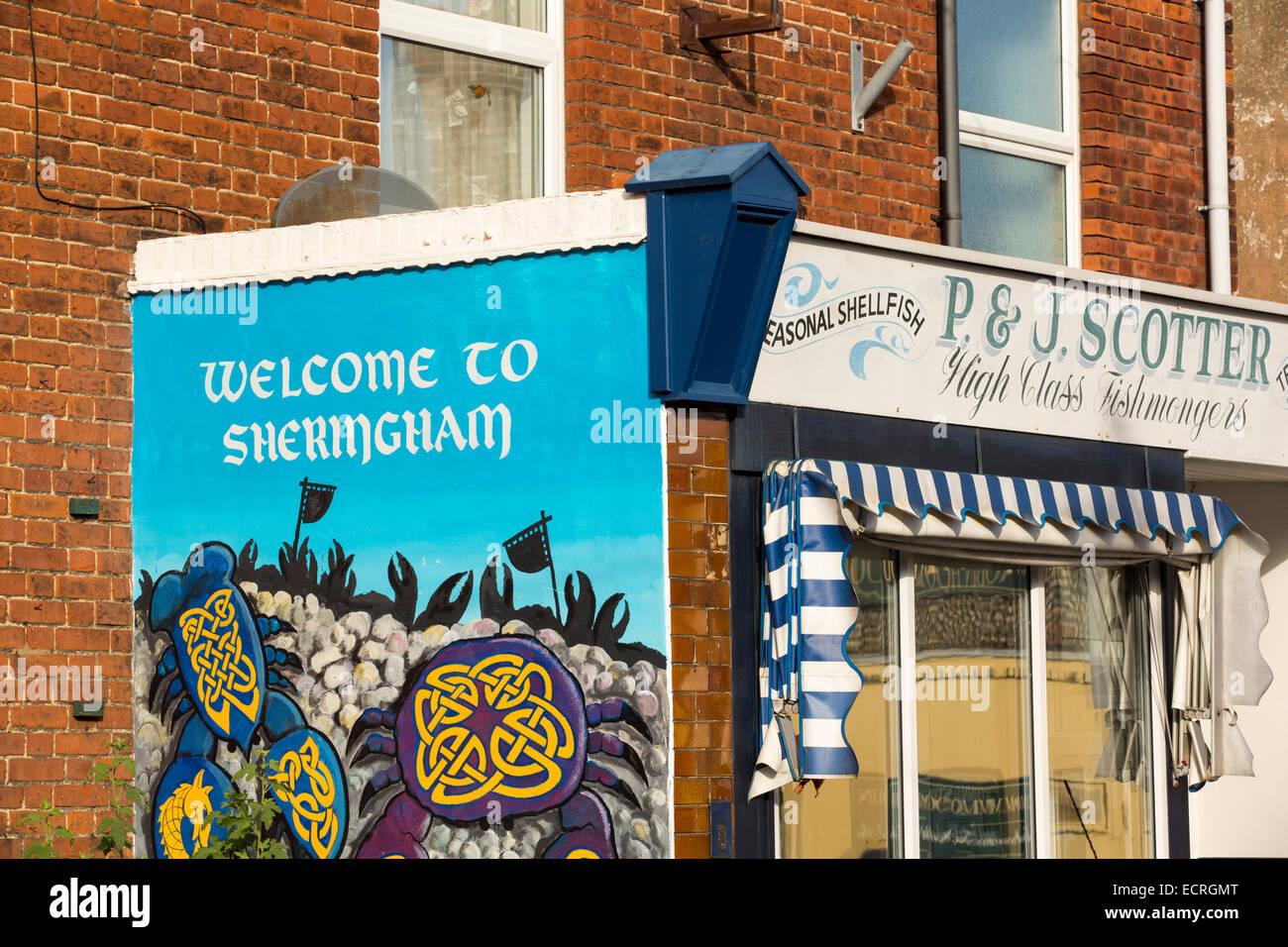 448fd4e29e6 Un benvenuto a segno Sherignham dipinta su un fishmogers nella città