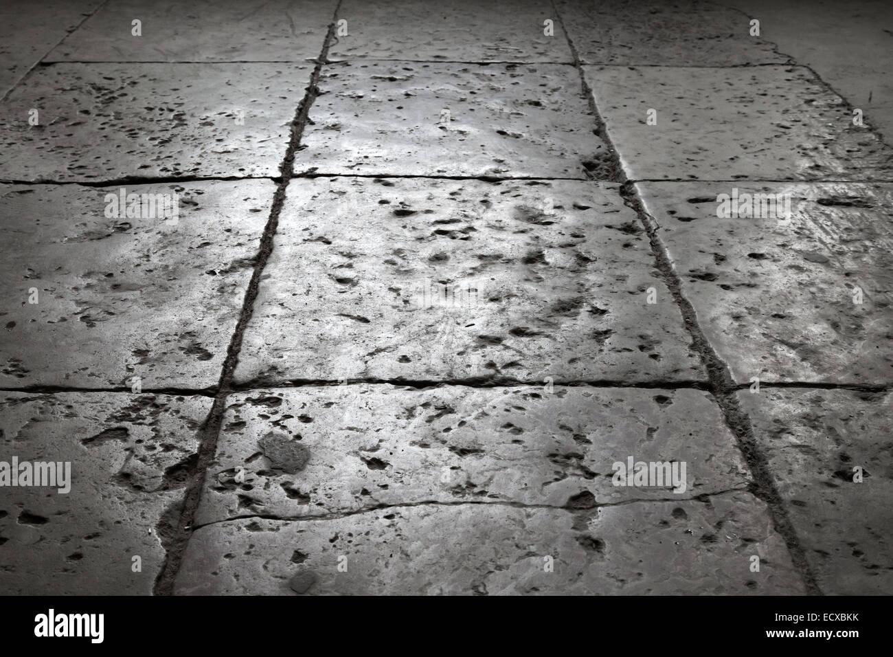 Grigio scuro piastrelle di pietra sul pavimento sfondo con