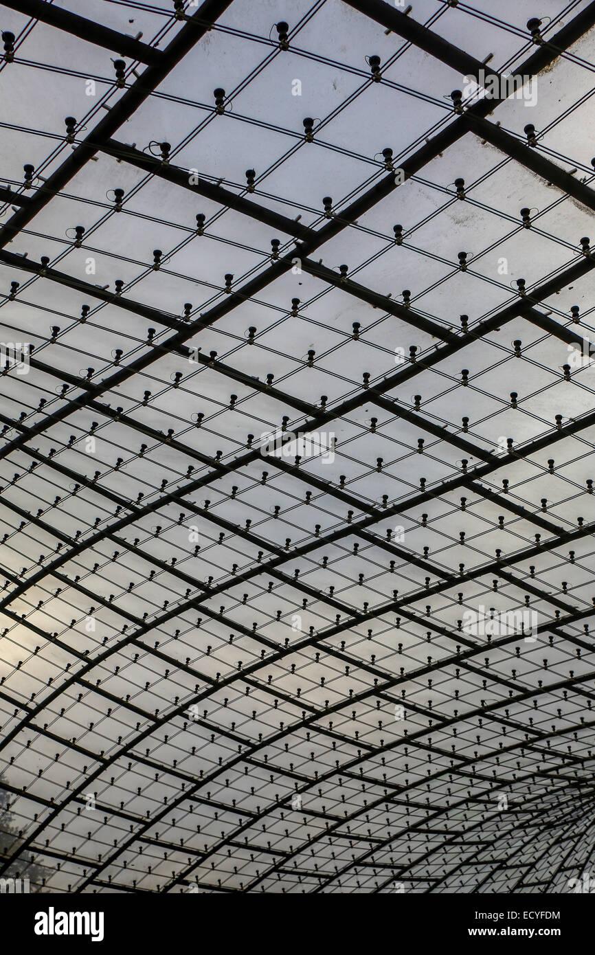 Monaco di Baviera olympic park acrilico tetto di vetro Immagini Stock