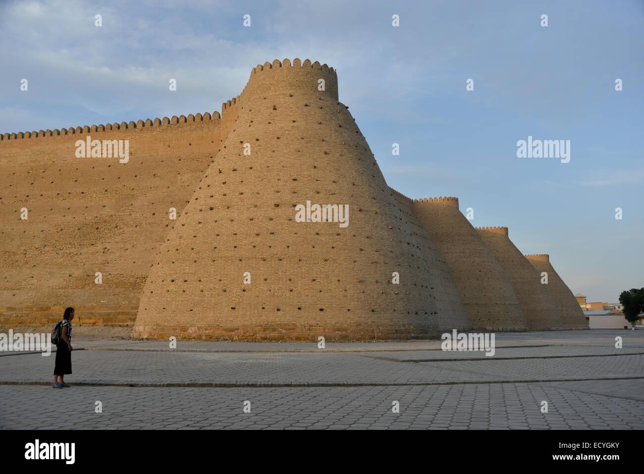 Questa è una vecchia fortezza dell'Emirato di Bukhara - Asia Centrale. Immagini Stock