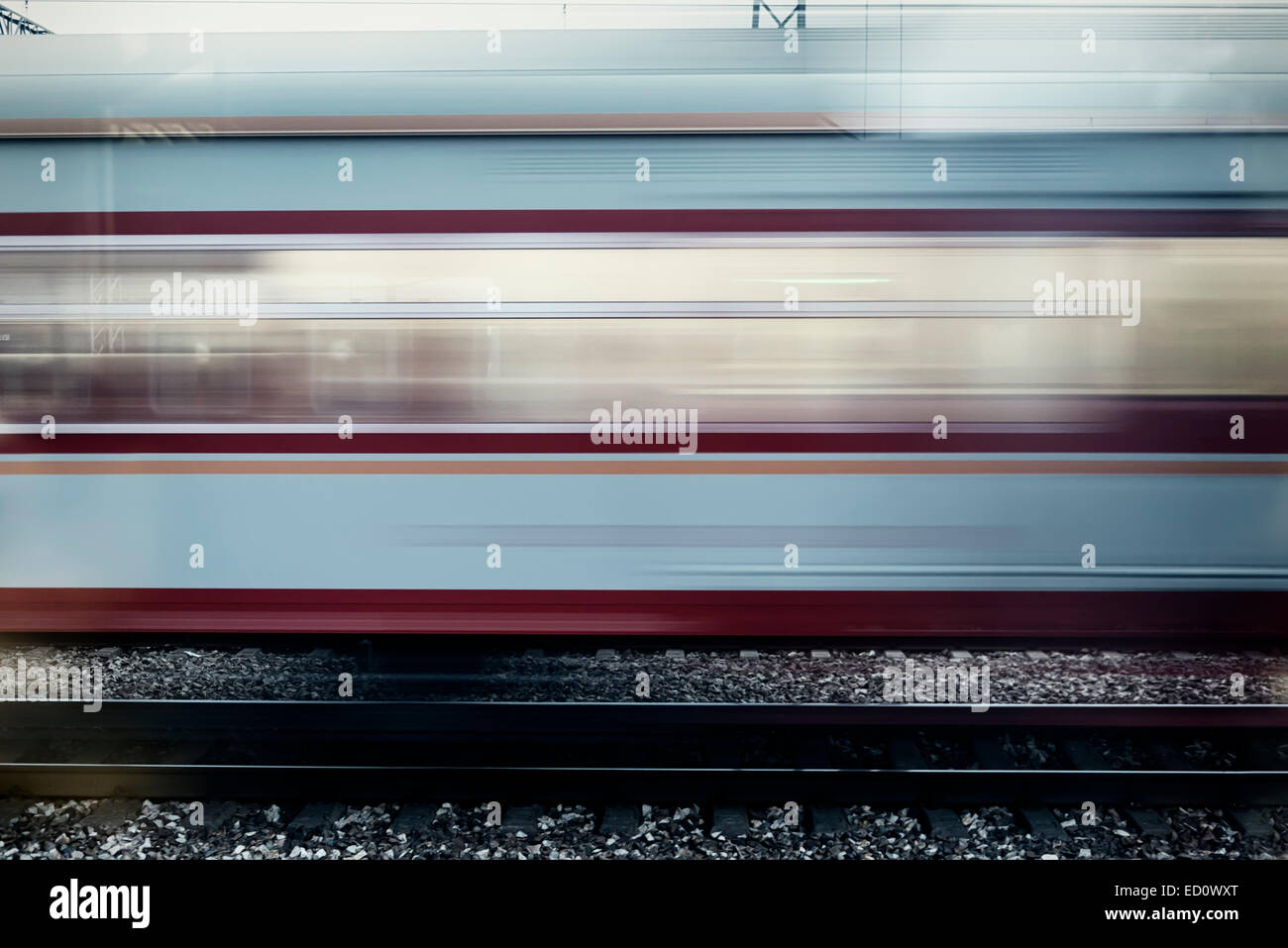 Movimento del treno con motion blur effetto, Cina Foto Stock
